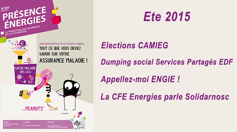 Présence Energies n° 889 – Ete 2015