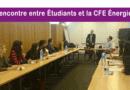 11 janvier, des étudiants de PARIS X Nanterre accueillis à la CFE Énergies