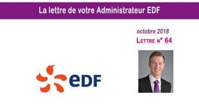 La lettre n° 64 de votre Administrateur EDF – Octobre 2018