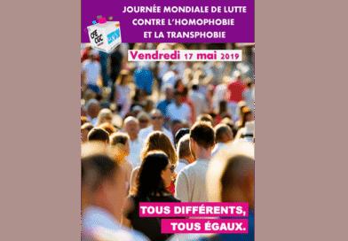 Journée Mondiale de la Lutte contre l'Homophobie et la Transphobie : Tous différents, Tous égaux