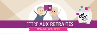 Lettre aux retraités n° 62 – Mai / Juin 2019