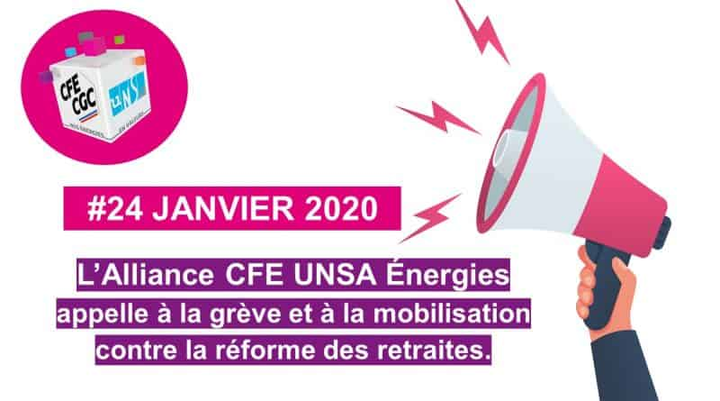 Le 24 janvier, toutes et tous mobilisé.e.s contre le projet de réforme des retraites