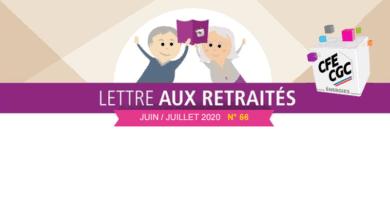 Lettre aux retraités n° 66 – Juin / Juillet 2020