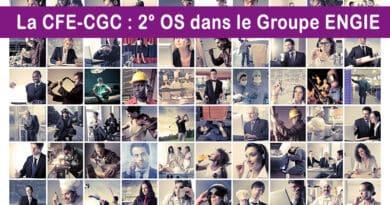 La CFE-CGC devient la 2ème organisation syndicale représentative dans le groupe ENGIE