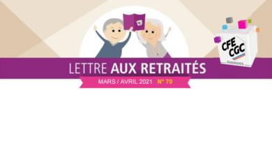 Lettre aux retraités n° 70 – Mars / Avril 2021